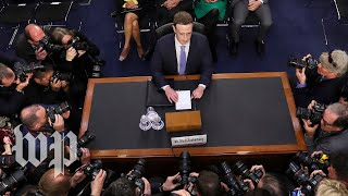 Watch Zuckerberg's opening statment at the Senate Judiciary and Commerce Committee hearing