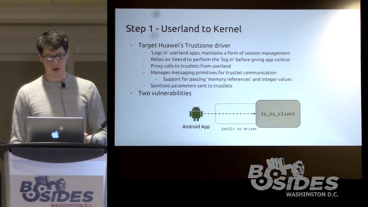 BSides DC 2018 - Bypassing Huawei's Fingerprint Authentication by  Exploiting the TrustZone