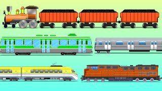 Trains | Railway Vehicles | Street Vehicles | learn transports | baby videos thumbnail