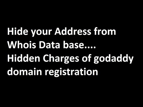 How to hide your name on registering a domain in Godaddy without paying money