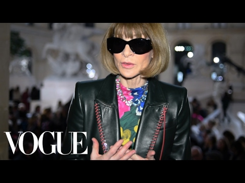 Anna Wintour on the Trends of Paris Fashion Week