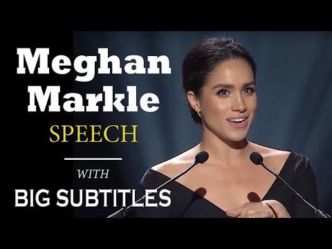 Meghan Markle's Powerful Speech about Feminism | ENGLISH SPEECH with BIG Subtitles