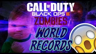 TOP 5 ZOMBIES WORLD RECORDS!!! ROUND 7200, 200 REVIVES!!!