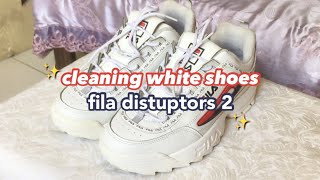 chill clean white shoe's with me • fila