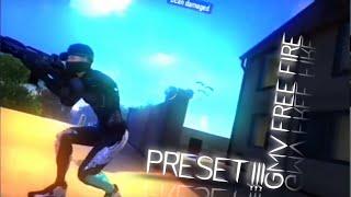 PRESET GMV FF 🤤 FREE FIRE EDIT INSANE    DIBAWAH 5 MB