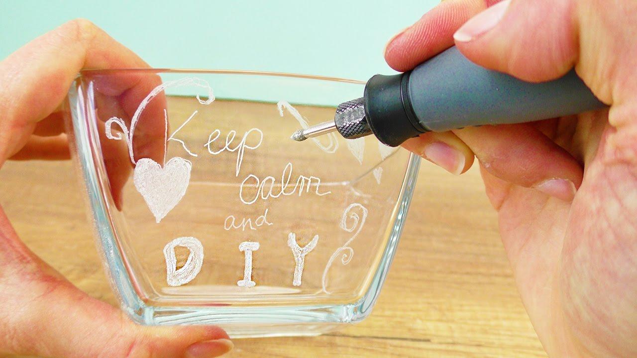 Berühmt DIY Geschenkidee GLAS GRAVIEREN für die beste Freundin | Kathi NE95