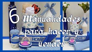 6 MANUALIDADES PARA HACER Y VENDER // 6 Crafts to Sell // 6 artesanato para vender