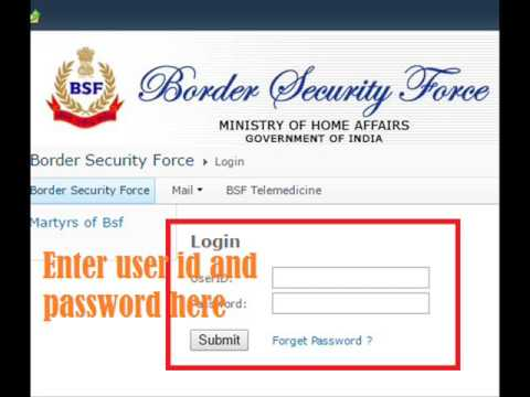 BSF payslip download View or Print - www bsf gov in Home login