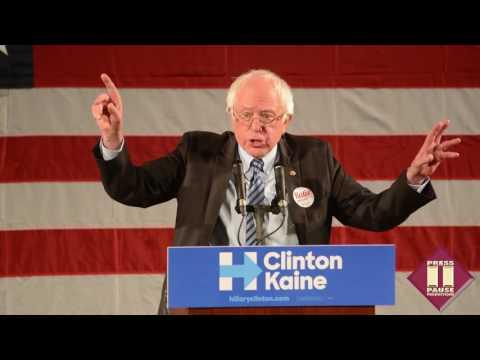 Bernie Sanders responds to Trump tape; backs Hillary in Philadelphia (Full 10/8/16 speech)