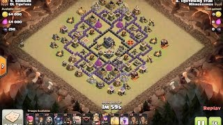 How to 3 star town hall 9 in clan war using GoWiPe - clash of clans war attack strategy
