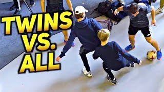 Identical-Twins With INCREDIBLE Football Skills Talent 2018 ★