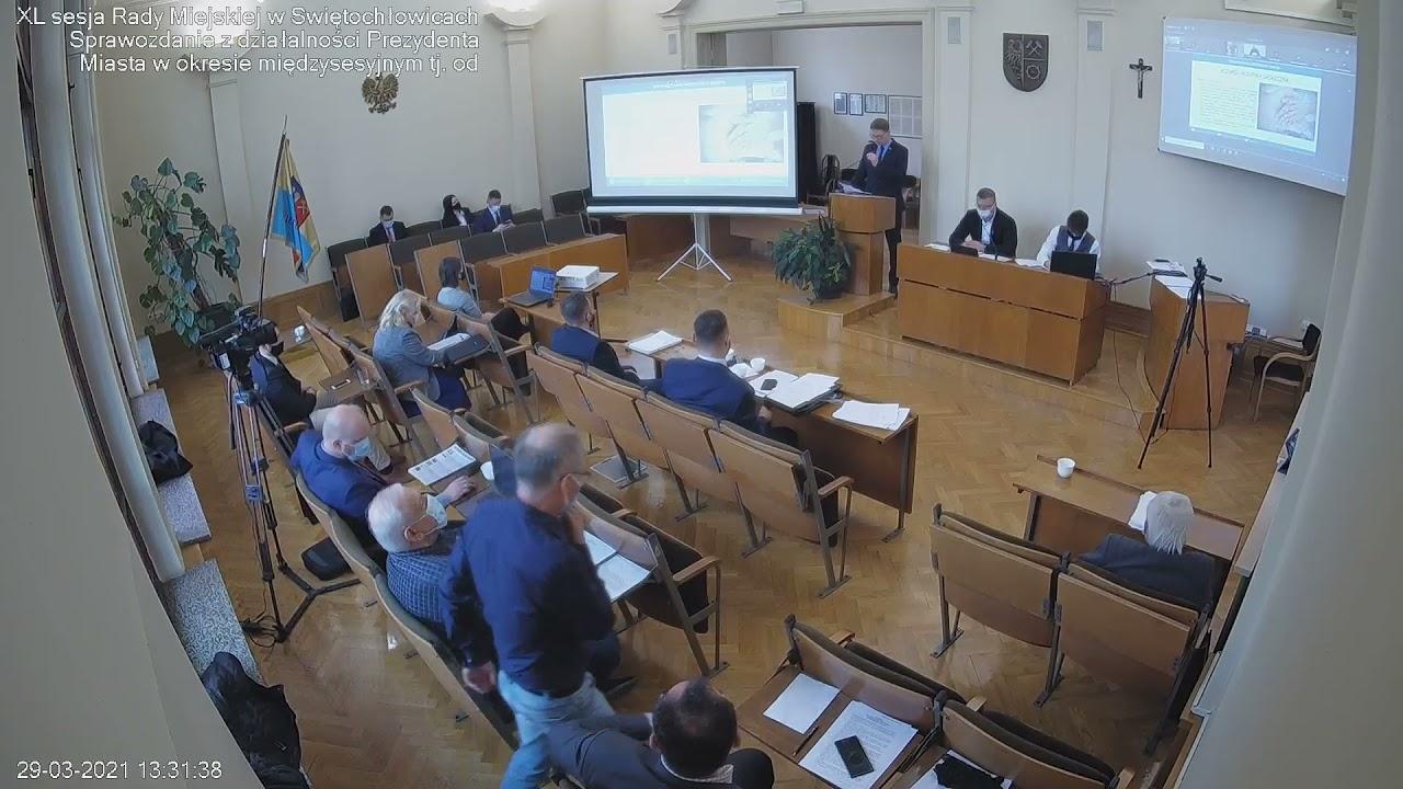 XL sesja Rady Miejskiej w Świętochłowicach - 29.03.2021
