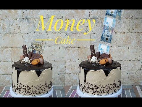 Money Cake | Money Pulling cake (Surprise cake)