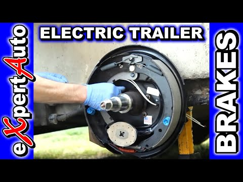HOW TO Change Trailer Brake. Replace Brakes. Electric