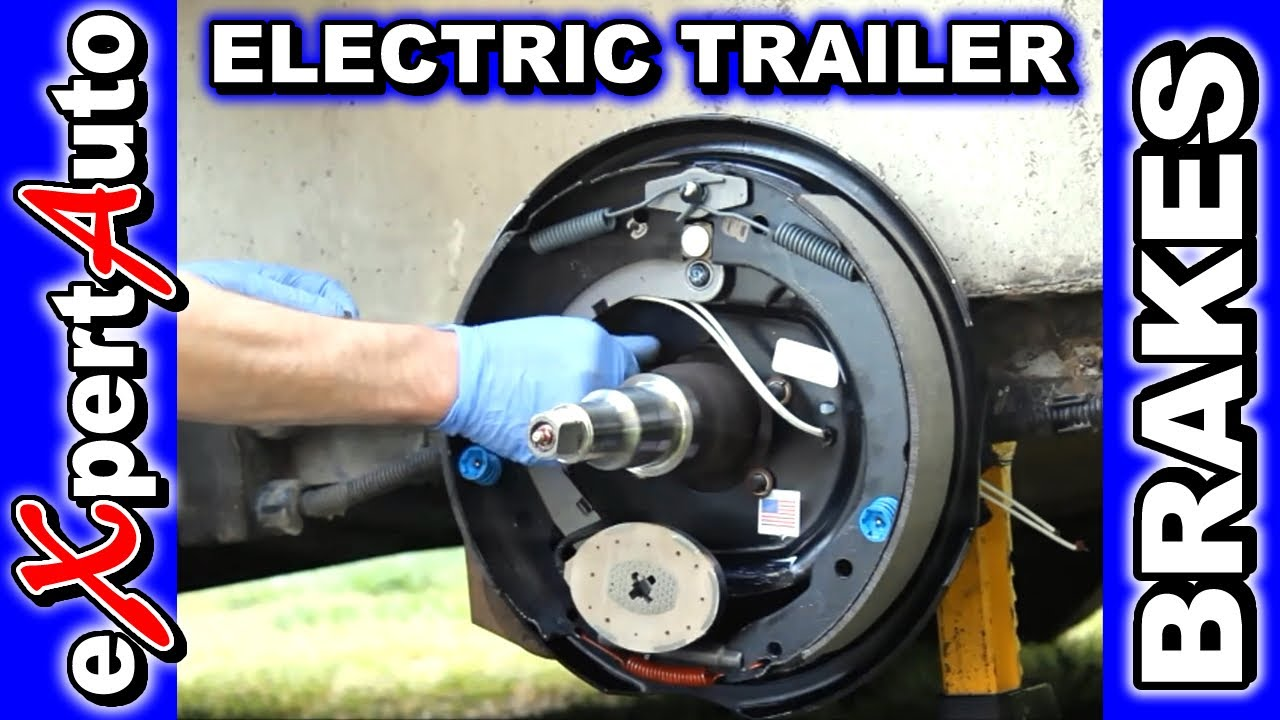 HOW TO Change Trailer Brake Replace Brakes Electric