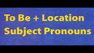6й видеоурок английского с носителем - о местонахождении + BE - изучение английского для детей