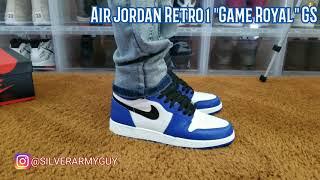 """4K On Feet Only! Air Jordan Retro 1 """"Game Royal"""" GS"""