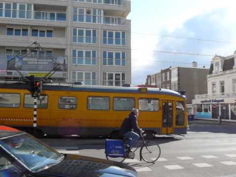Old-fashioned tram in The Hague