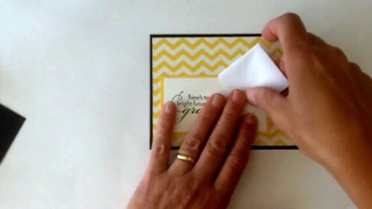 Stampinup graduation card with a fun fold cap youtube prinsesfo Image collections