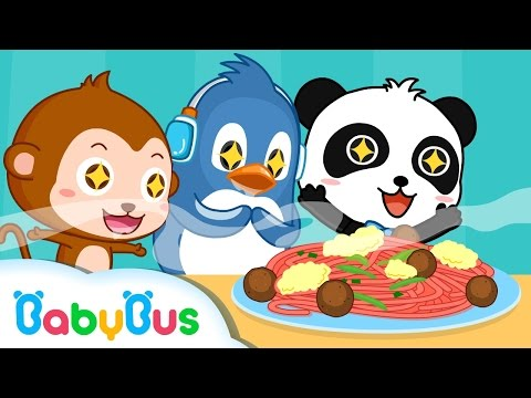 On The Top Of Spaghetti | Nursery Rhymes | Kids Songs | BabyBus| Baby Panda