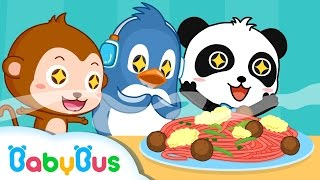 On The Top Of Spaghetti | Nursery Rhymes | Kids Songs | BabyBus| Baby Panda