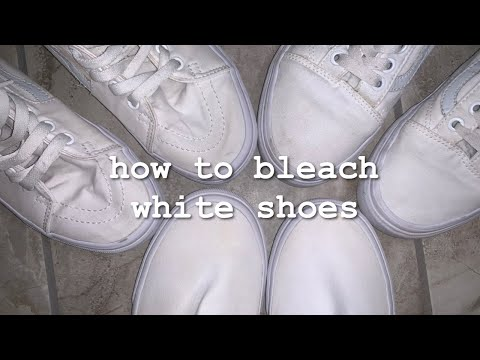 how i bleach my white shoes