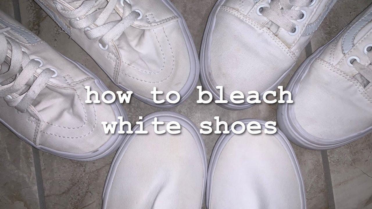 how i bleach my white shoes - YouTube