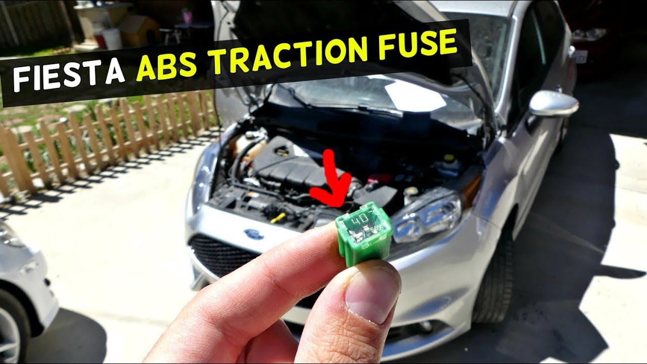 ford fiesta abs traction control light fuse location youtube