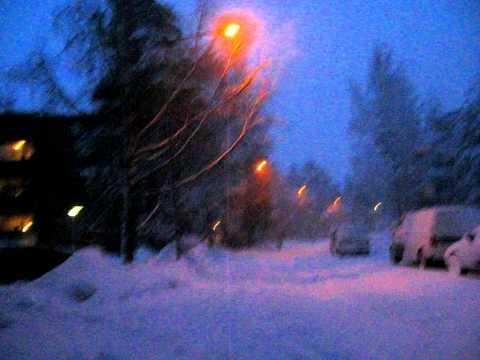 Cold day in Otaniemi, Espoo, Finland