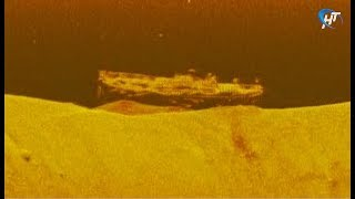 Новгородские дайверы обнаружили на дне Волхова корабль времен Великой Отечественной войны