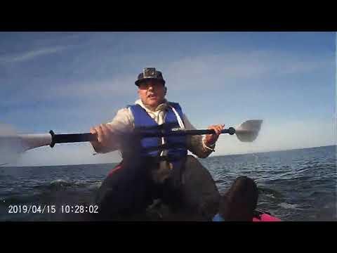 Blooper en kayak punta negra piriapolis