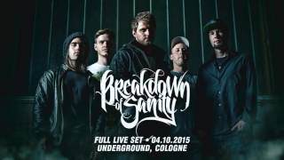 Breakdown Of Sanity - FULL LIVE SET - Cologne, Germany (INCL. NEW SONG)