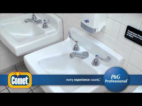 Comet Disinfecting Sanitizing Bathroom Cleaner Youtube