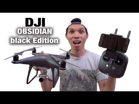 2017 DJI PHANTOM 4 PRO OBSIDIAN Black Edition/ Unboxing - review fly test