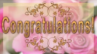 💐Congratulations! Best wishes to you!💐Best Animated Greeting Card 4K