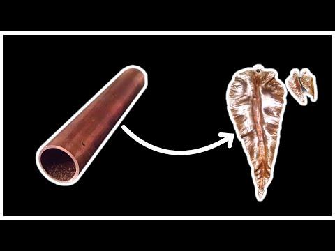 Copper leaf earrings & Pendant