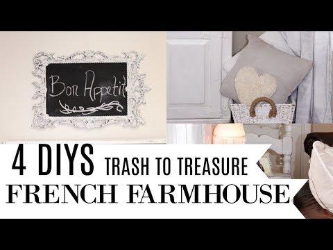4 DIY TRASH TO TREASURE FRENCH FARMHOUSE MAKEOVER PROJECTS 🌿 THRIFT STORE UPCYCLE