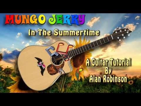 In The Summertime - Mungo Jerry - Acoustic Guitar Lesson (easy-ish)