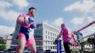 OPERATION WHITE RHINO! DAVE ALLEN WORKS OUT IN SHEFFIELD AHEAD OF COMMONWEALTH SHOWDOWN
