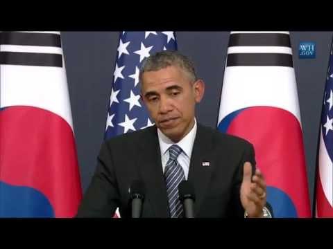 Obama In South Korea- Full Press Conference