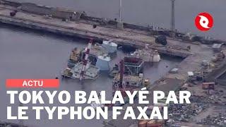 Tokyo secoué par le typhon Faxai