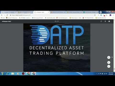 DATP {Decentralized Asset Trading Platform 2018 2019