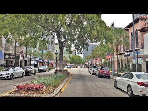 Driving Downtown - Fort Lauderdale Florida USA