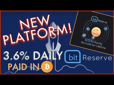 BIT RESERVE -- NEW BITCOIN LENDING PLATFORM -- 3.6% DAILY! -- Interest Paid Every HOUR In BITCOIN!