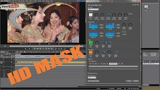 How To  Edius HD New 3d Effects Wedding Mask with NewBlue  Effects Chroma Key Pro (urdu in hindi)