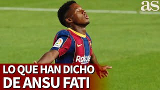 Guardiola, Messi, Ramos... no hablan así de cualquiera: lo que se ha dicho de Ansu Fati | Diario AS