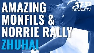 AMAZING Rally Between Gael Monfils and Cameron Norrie | Zhuhai Championships 2019