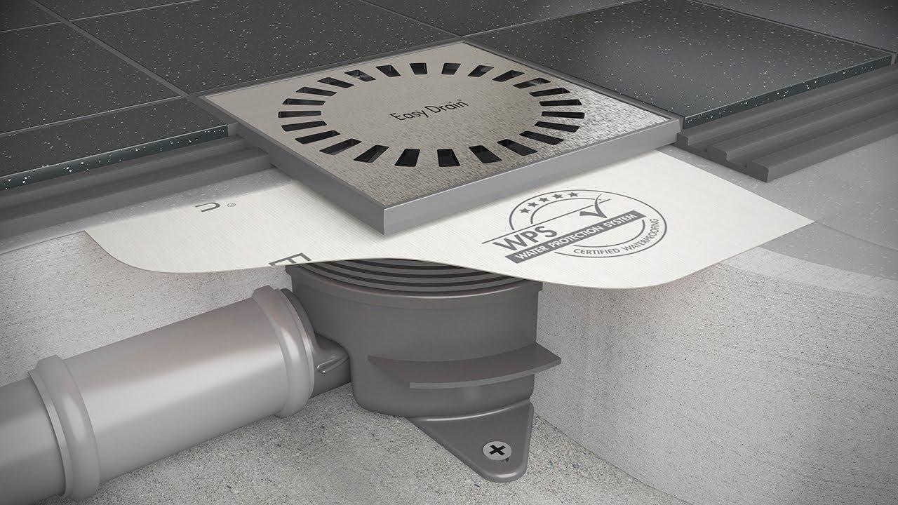 Doucheput plaatsen - Easy Drain Aqua Brilliant installatie ...
