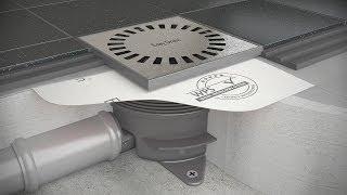 Doucheput plaatsen - Easy Drain Aqua Brilliant installatie (Nederlands)