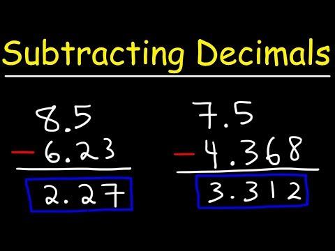 Subtracting Decimals - Keeping It Simple!
